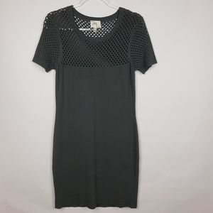 Milly gray short sleeve sweater dress. size Large